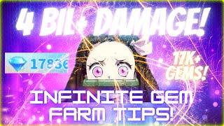 All Star Tower Defense - 💎 Claiming 4 BILLION+ Damage in Gems 💎 | INFINITE MODE GEM FARM TIPS!
