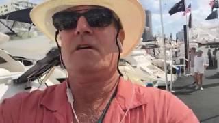 Walking the docks at Yachts Miami Boat Show Randall Burg #lovethatyacht
