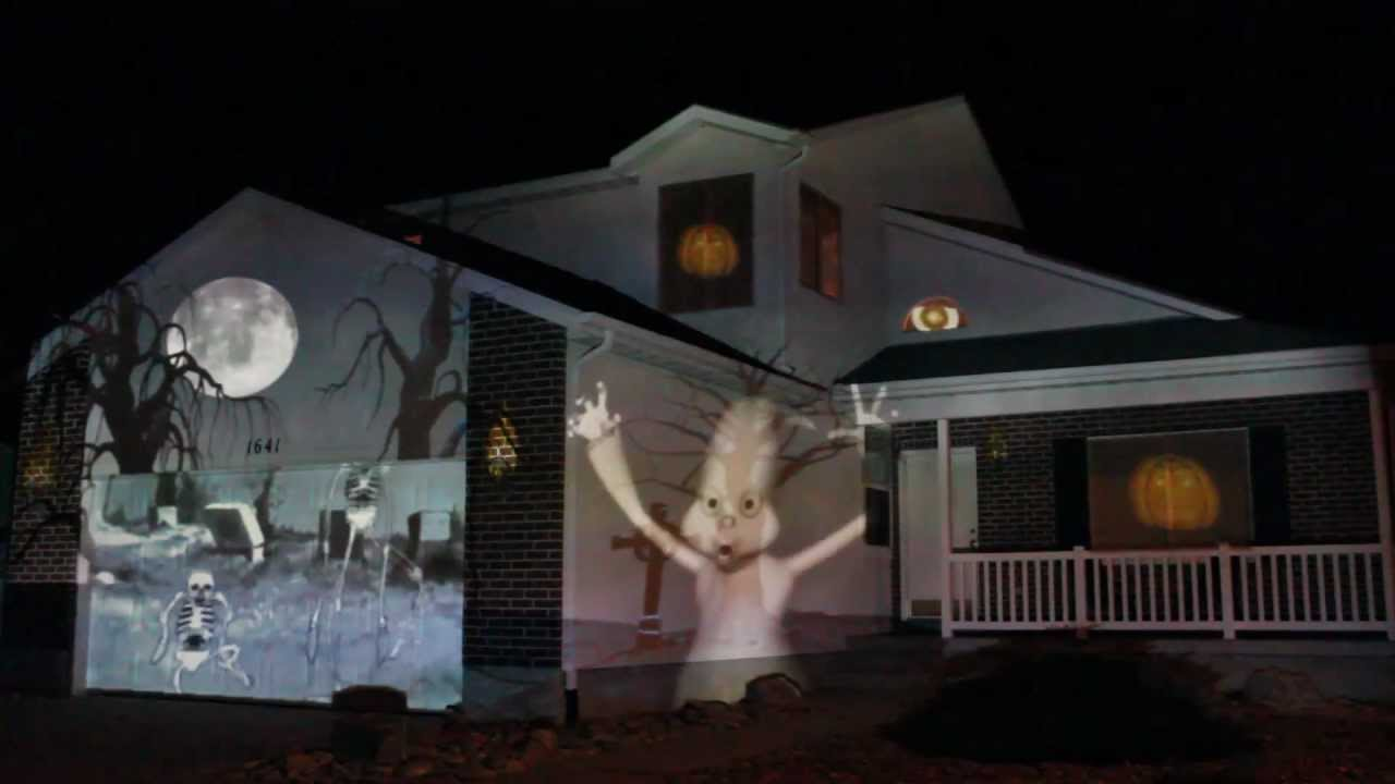 2011 halloween house projection live full show in hd youtube - Halloween House Pictures