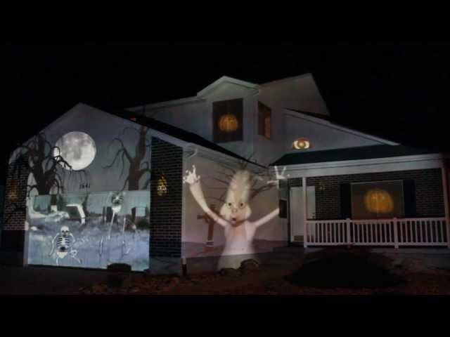 extreme outdoor halloween decorating projection animation - Extreme Halloween Decorations