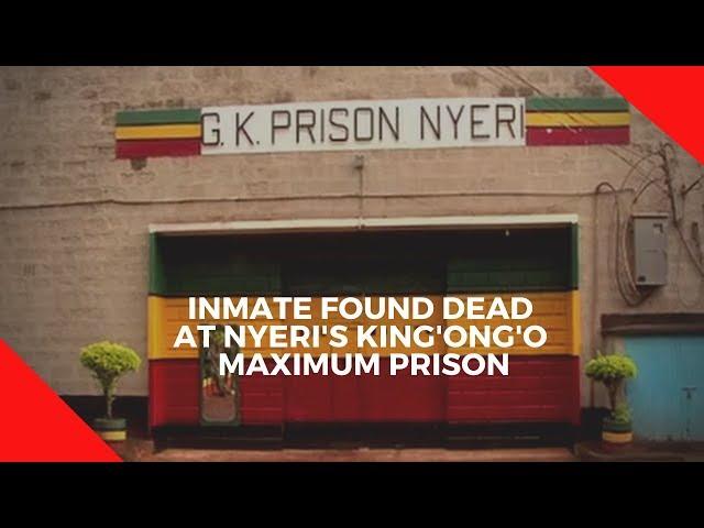 Inmate dies in  prison