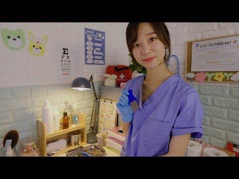 School Nurse Lice Check💙 ASMR