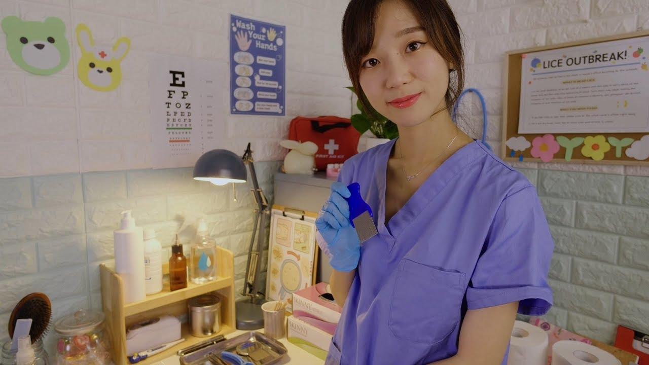 Download School Nurse Lice Check💙 ASMR