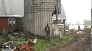 One Man Silo Destuction