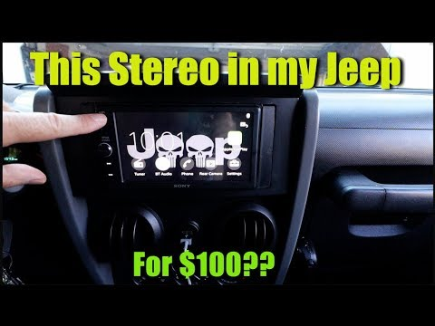 How to install a Sony Double Din Stereo in a Jeep Wrangler on the cheap
