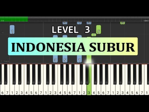 Not Piano Indonesia Subur - Lagu Wajib Nasional - Tutorial Level 3