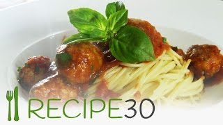 Spaghetti Turkey Meatball Recipe In 30 Seconds.