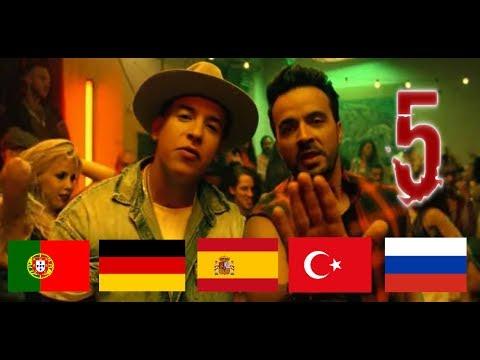 Despacito 5 Dilde! (Turkce,Almanca,Ispanca,Rusca,Portekizce)