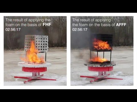 Fast-hardening firefighting foam