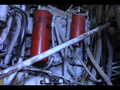 How to do a Fuel Filter change on a BIG Truck - DIY Duke - YouTube