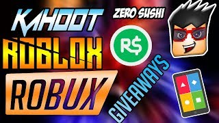 🔴ROBUXS GIVEAWAY/Kahoot And Roblox Live Stream #81🔴COME JOIN AND HAVE FUN