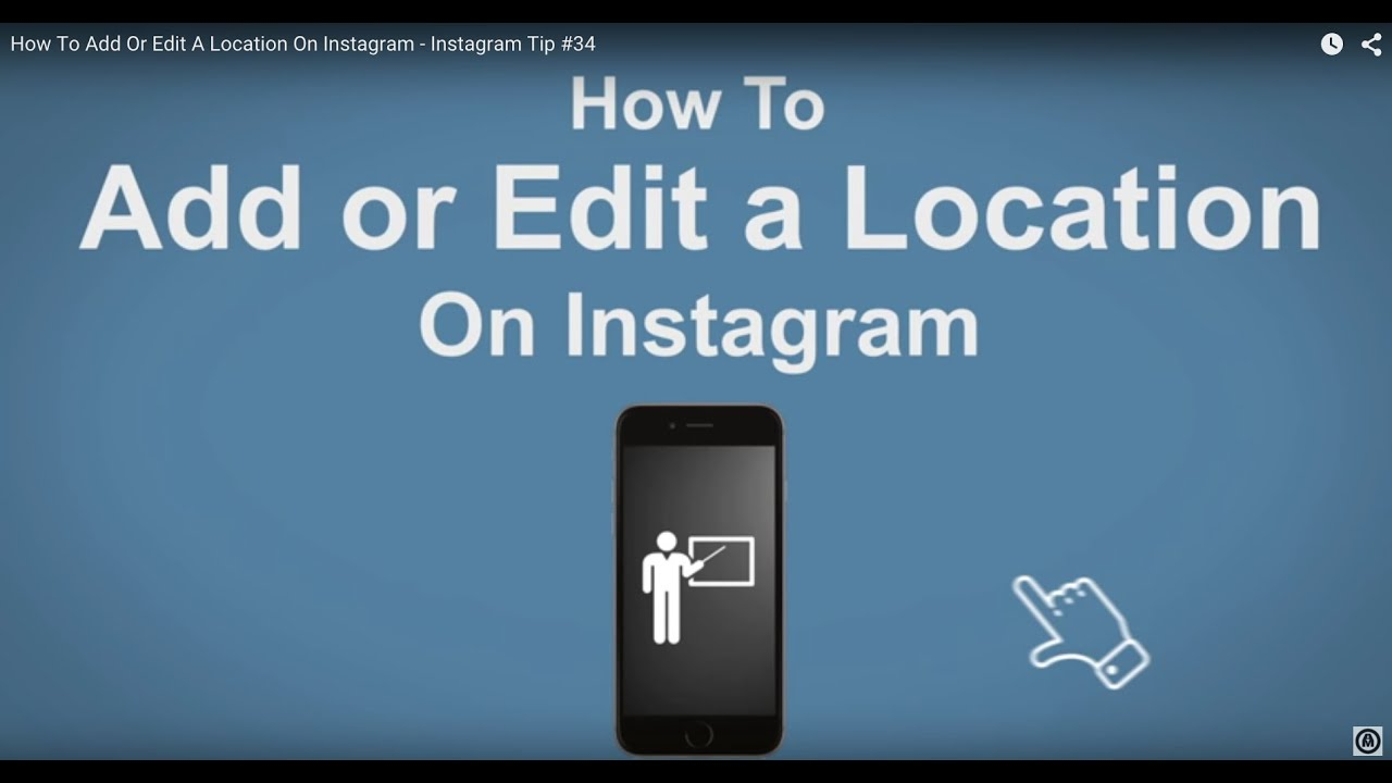 How to add or edit a location on instagram instagram tip 34 youtube how to add or edit a location on instagram instagram tip 34 ccuart Gallery