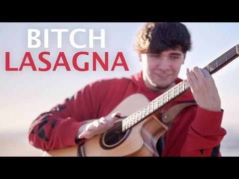 Bitch Lasagna played on an Acoustic Guitar