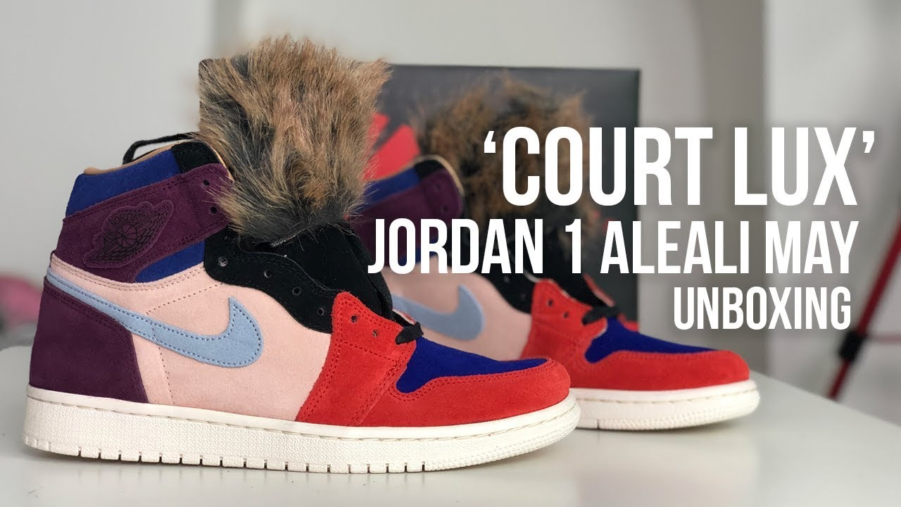 f457980eb4614f Jordan 1 Retro High OG  Aleali May  Court Lux Sneaker Unboxing - YouTube