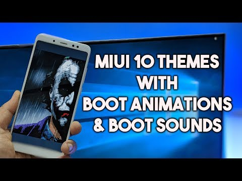 MIUI 10 Themes with NEW BOOT ANIMATIONS & SOUNDS - Redmi Note 5 Pro