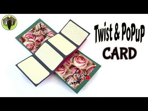 "Twist & POPUP Card"" - DIY Tutorial by Paper Folds ❤️"