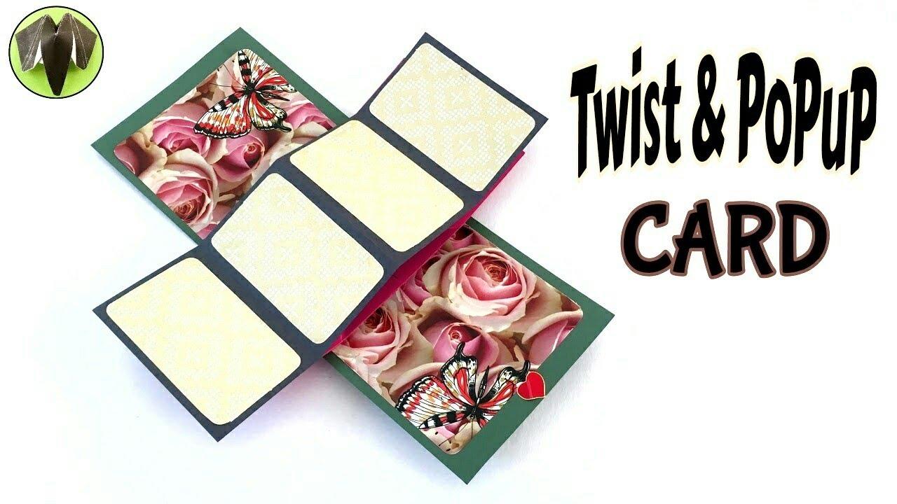 "twist  popup card""  diy tutorialpaper folds ️  youtube"