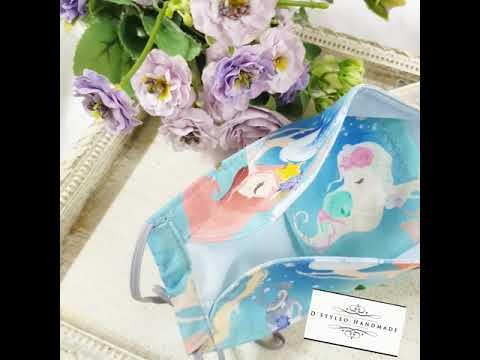 little mermaid 3D Fabric Mask (KF94 Style)