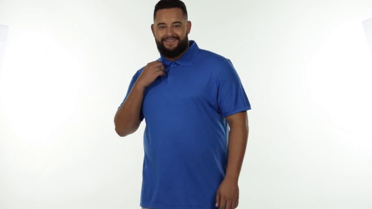 72d546201a6 Polo Malha Fria Masculina Plus Size Azul Royal. Fenomenal Oficial