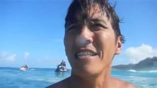 SURFING HAWAII:  BIG PIPELINE CHRISTMAS SWELL  ハワイ:パイプライン