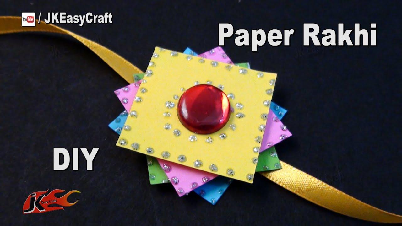 Craft Paper Making Rakhi