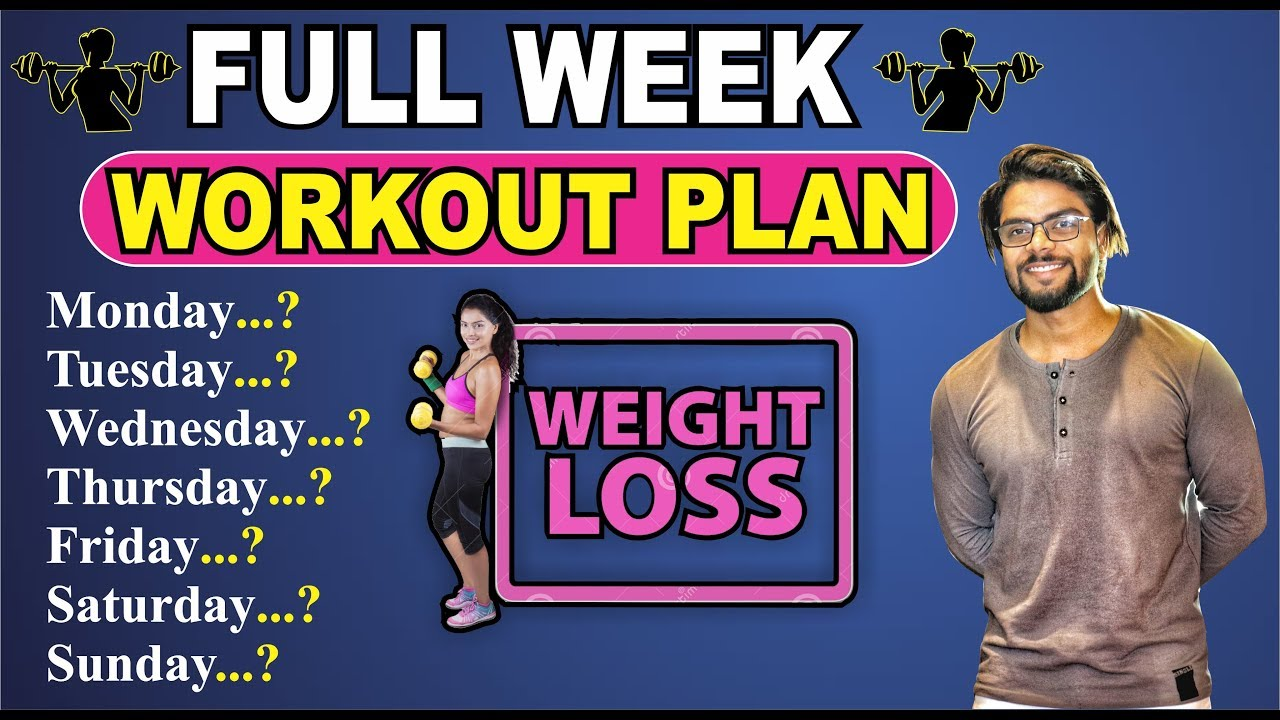 Complete Workout Plan From Monday to Saturday  (For Girls)