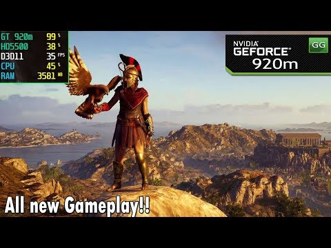 Assassin's Creed Odyssey on Nvidia 920m | 920mx + Core i5 | 2018 Benchmark Test |
