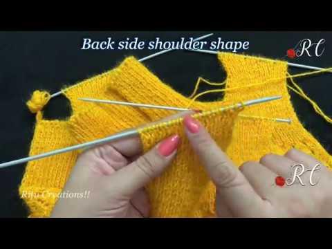 dfcab84b4ebd Shoulder Shaping in Sweaters (बुनाई में कंधे की शेप ...