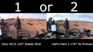 "o#o Sony Action Cam ""Steady Shot"" vs. GoPro - Moab, Utah"