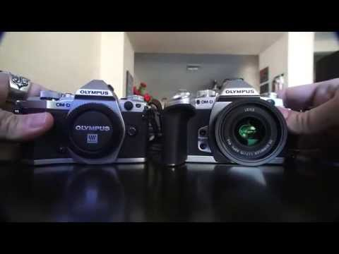 The Olympus E-M5Ii and E-M1 side by side.