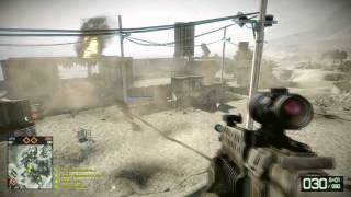 Battlefield bad company 2 Gameplay Multiplayer Online AMD 6870 1920 x 1080 HD Dx 11