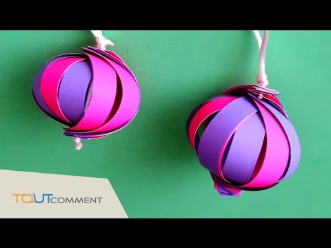 d cor de no l diy boules de no l en papier youtube. Black Bedroom Furniture Sets. Home Design Ideas
