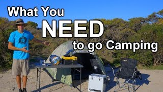 What You Actually NËED to go Camping