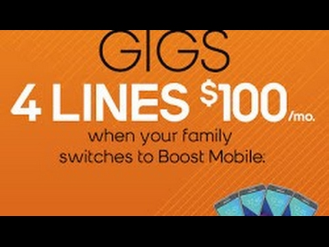 Boost Mobile Offers 4 Lines of the Unlimited Gigs Plan for $100/month
