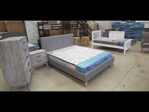 Chloe Fabric Bed - Warehouse Furniture Clearance