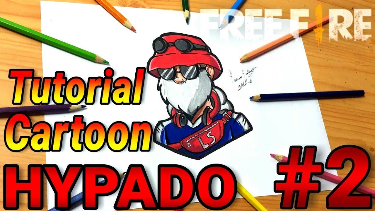COMO COLORIR CARTOON DE FREE FIRE  SKIN HYPADO  - Como Dibujar Free Fire // Gambar Free Fire