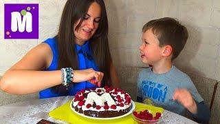 Делаем торт со сгущенкой дома с тетей Людой Make hand made cake