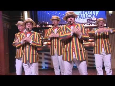 Jimmy Fallon's Ragtime Gals History of Boy Bands at Universal Studios Florida