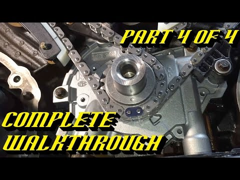 Ford 5.4L 3v Engine Timing Chain Kit Replacement Pt 4 of 4: Timing and Startup!