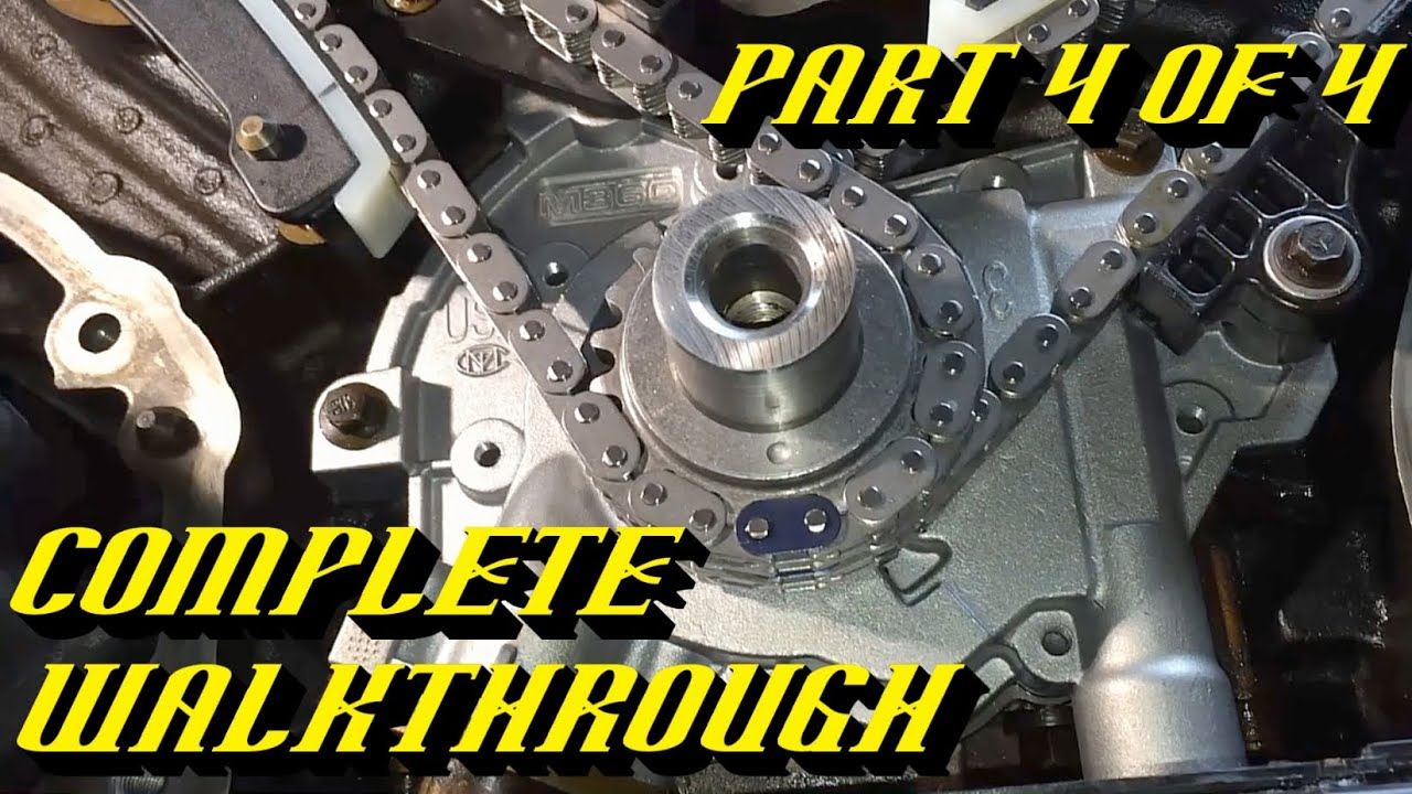ford 5 4l 3v engine timing chain kit replacement pt 4 of 4 timing