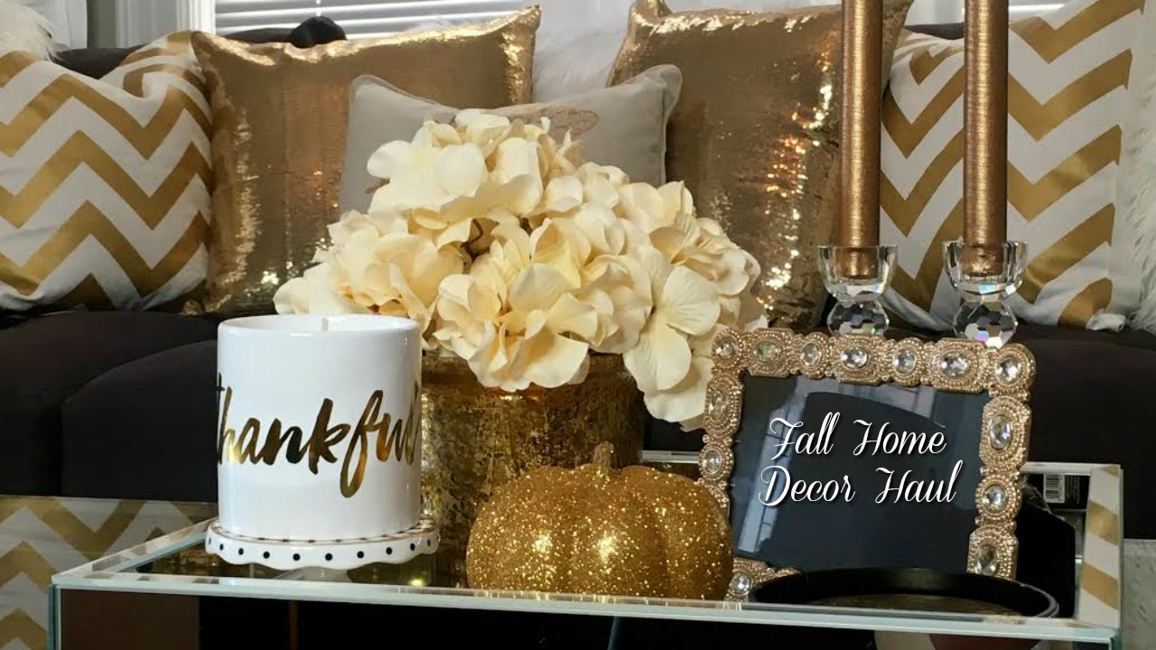 Fall home decor haul homegoods tjmaxx zgallerie target and hobby lobby youtube Target fall home decor