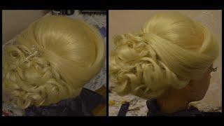 Свадебная прическа на длинные и средние волосы.(В этом видео представлена красивая свадебная прическа для средних и длинных волос., 2016-02-11T15:55:51.000Z)