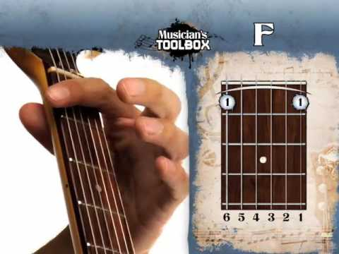 How to play the F barre chord on guitar F bar chord - YouTube