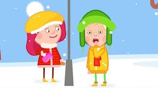 Мультики для детей - Как слепить снеговика? Смарта и чудо-сумка - зимние мультфильмы