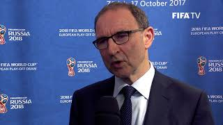 Martin O'Neill - European Play-Off Draw Reaction (EXCLUSIVE)