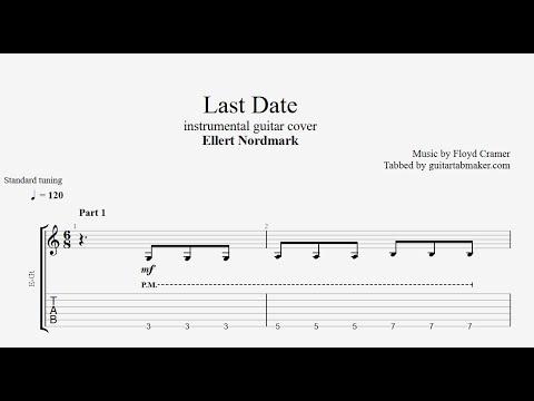 GUITARTABMAKER: LAST DATE INSTRUMENTAL GUITAR TAB
