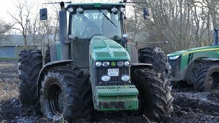 John Deere 8530 Going Deep w/ John Deere 8230R on The Back | Potato Mudding Madness | DK Agriculture