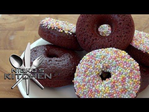 RED VELVET DONUTS - Nicko\'s Kitchen - YouTube