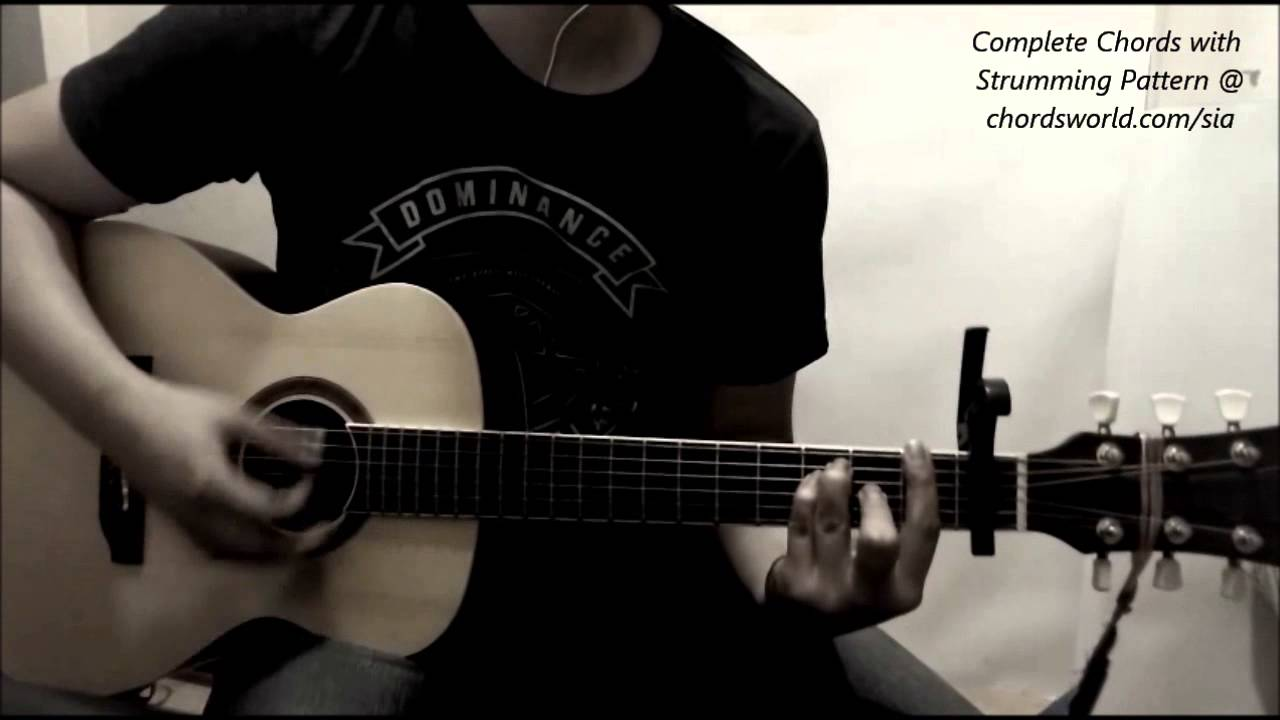 Sia Chandelier Chords (Easy Version) - YouTube