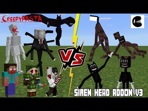 Creepypasta Legends VS Siren Head & Cartoon Cat V3 (Surprise WINNER??) Minecraft PE